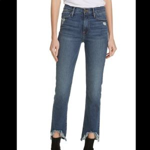 BNWT FRAME Denim Le High Straight Curve Hem Jeans